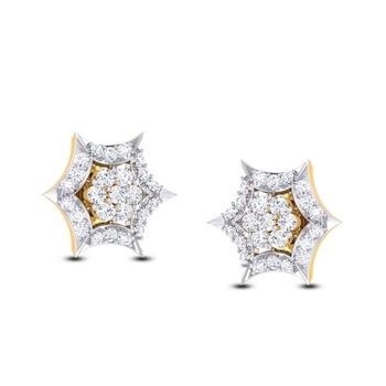 Cubic Zirconia Sterling Silver Krupa Earring