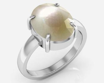 Moti 8.3 Cts Or 9.25 Ratti Pearl Ring