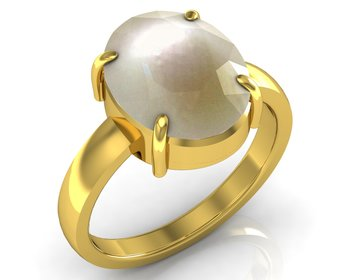 Moti 7.5 Cts Or 8.25 Ratti Pearl Ring