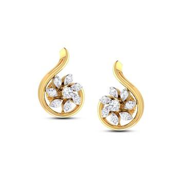 Cubic Zirconia Sterling Silver Krupali Earring