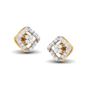 Cubic Zirconia Sterling Silver Karuna Earring
