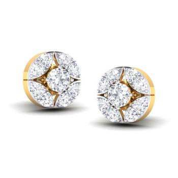Cubic Zirconia Sterling Silver Pooja Earring