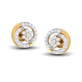 Cubic Zirconia Sterling Silver Navya Earring
