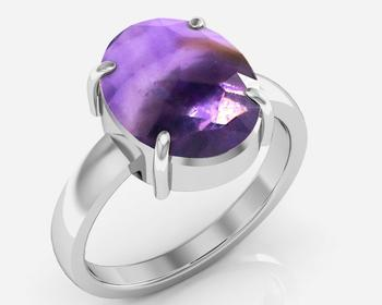 Katela 9.3 Cts Or 10.25 Ratti Amethyst Ring