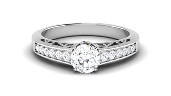 Signity Sterling Silver Nilam Ring
