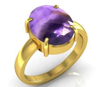Katela 3.0 Cts Or 3.25 Ratti Amethyst Ring
