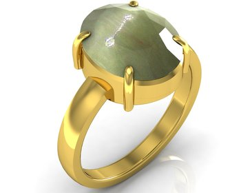 Lehsuniya 9.3 Cts Or 10.25 Ratti Cats Eye Ring