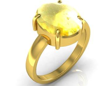 Sunehla 7.5 Cts Or 8.25 Ratti Citrine Ring