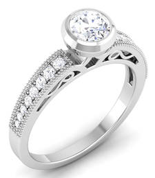 Signity Sterling Silver Mumabi Ring