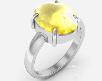 Sunehla 4.8 Cts Or 5.25 Ratti Citrine Ring