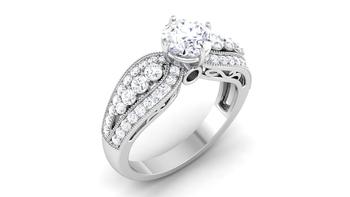 Signity Sterling Silver Nagpur Ring