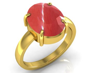 Moonga 8.3 Cts Or 9.25 Ratti Coral Moonga Ring
