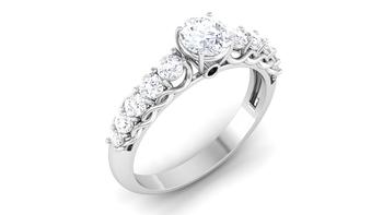 Signity Sterling Silver Karnataka Ring