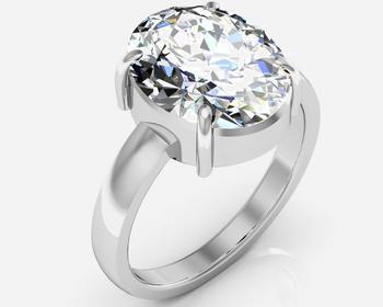 Isphetic 3.9 Cts Or 4.25 Ratti  Isphetic Ring