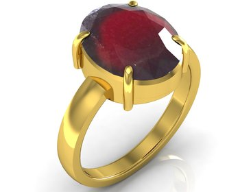 Hessonite 7.5 Cts Or 8.25 Ratti Garnet Ring
