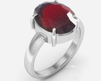 Hessonite 6.5 Cts Or 7.25 Ratti Garnet Ring
