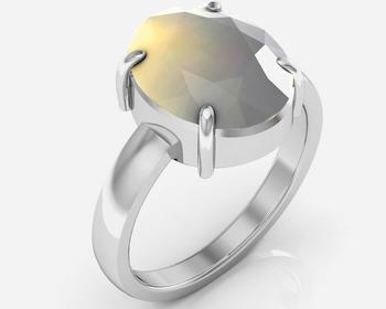 Moonstone 5.5 Cts Or 6.25 Ratti Moonstone Ring