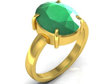 Haqiq 3.9 Cts Or 4.25 Ratti Green Onyx Ring