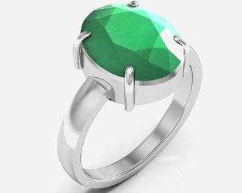 Haqiq 3.0 Cts Or 3.25 Ratti Green Onyx Ring