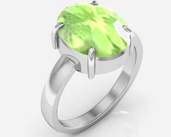 Peridot 6.5 Cts Or 7.25 Ratti Peridot Ring