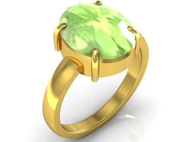 Peridot 4.8 Cts Or 5.25 Ratti Peridot Ring