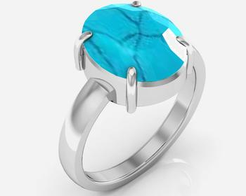 Turquoise 9.3 Cts Or 10.25 Ratti Turquoise Ring
