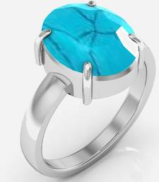 Buy Turquoise 9.3 cts or 10.25 ratti Turquoise Ring gemstone-ring online