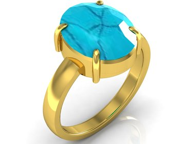 Turquoise 3.9 Cts Or 4.25 Ratti Turquoise Ring
