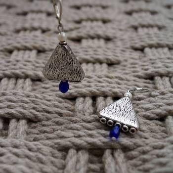 blue triangle danglers