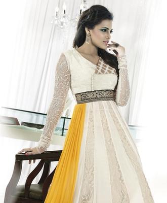 Embroidered Chiffon Anarkali suit 9607