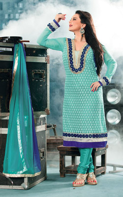 Hypnotex Sky Blue Georgette Anarkali Salwar Kameez Aayu 1713