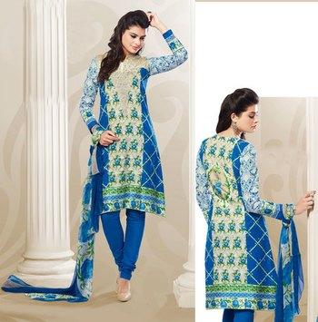 Hypnotex Blue Cotton Dress materials Payal 905