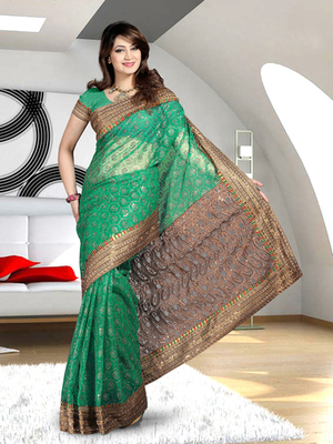 Dealtz Fashion Nett Shiffli Work Saree