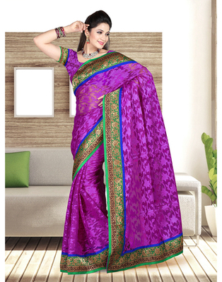 Dealtz Fashion Nett Hand Work Butta Patch Saree