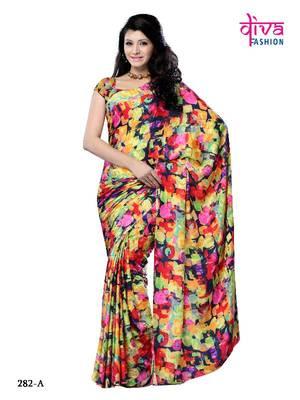 Luscious party wear fancy designer saree
