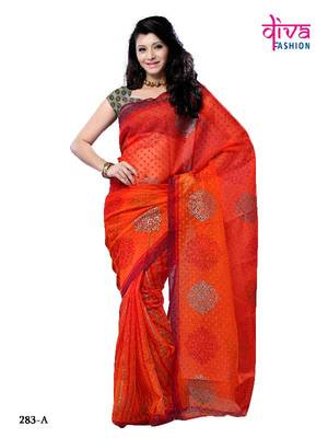 Lustrous party wear designer saree