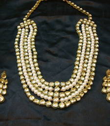 Buy designer bridal set with earrings pakistani-jewellery online