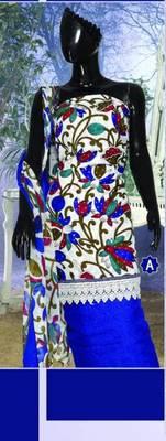 Spun Cotton Lacer Salwar Kameez Churidar Dress Meterial SC1058A