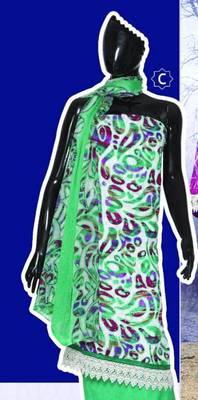Spun Cotton Lacer Salwar Kameez Churidar Dress Meterial SC1060C