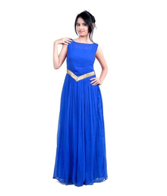 5f1171accb4 Blue georgette plain stitched party wear indian evening gowns - 19 Likes  Apparels - 1327384