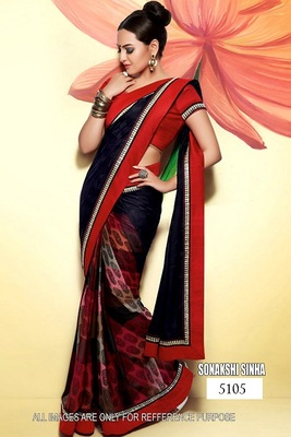 sonakshi sinha crepe saree