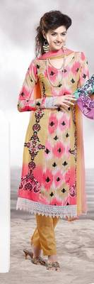 Cotton Embellished Salwar kameez Dress Material SC8131A