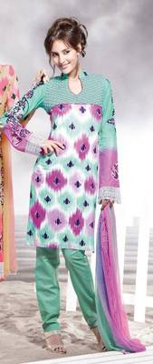 Cotton Embellished Salwar kameez Dress Material SC8131B