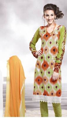 Cotton Embellished Salwar kameez Dress Material SC8131C