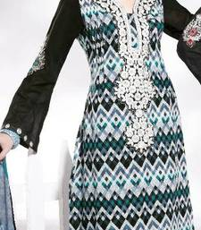 Buy Cotton Embellished Salwar kameez Dress Material SC8132B pakistani-salwar-kameez online