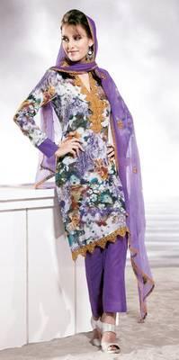 Cotton Embellished Salwar kameez Dress Material SC8141C