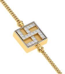 Buy golden plain Yellow golden bracelets rakhi-online online