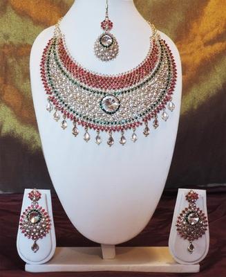 Classic Red and Green Kundan Bridal Set