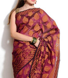 Organza cotton fancy banarasi saree