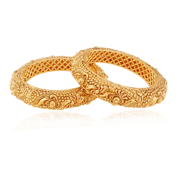 Traditional Gold plated antique bangle